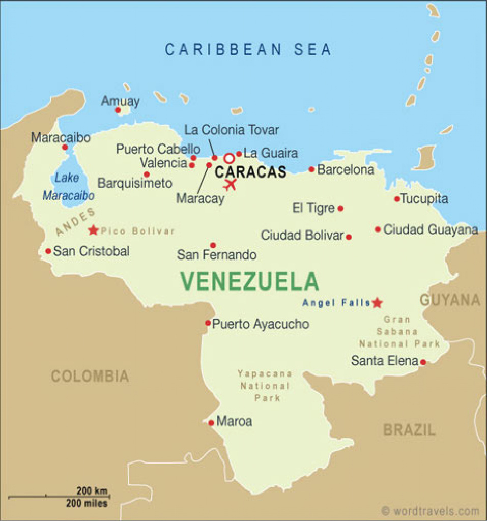 Venezuela Map And Venezuela Satellite Images for Map Of Venezuela States And Cities