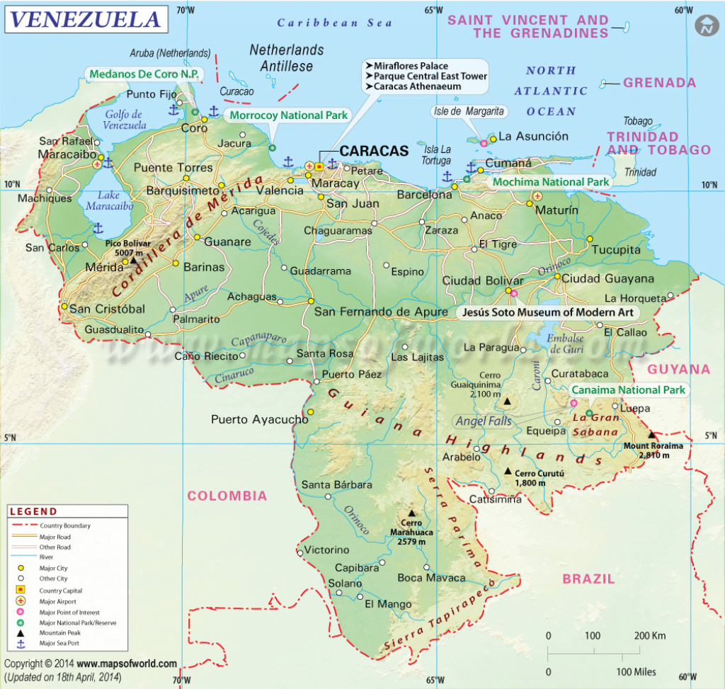 Venezuela Map, Map Of Venezuela throughout Map Of Venezuela States And Cities