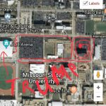 Verizon 953 Pm Mapmissouristateedu C Missouri State Campus Map P Msu with Missouri State Parking Map