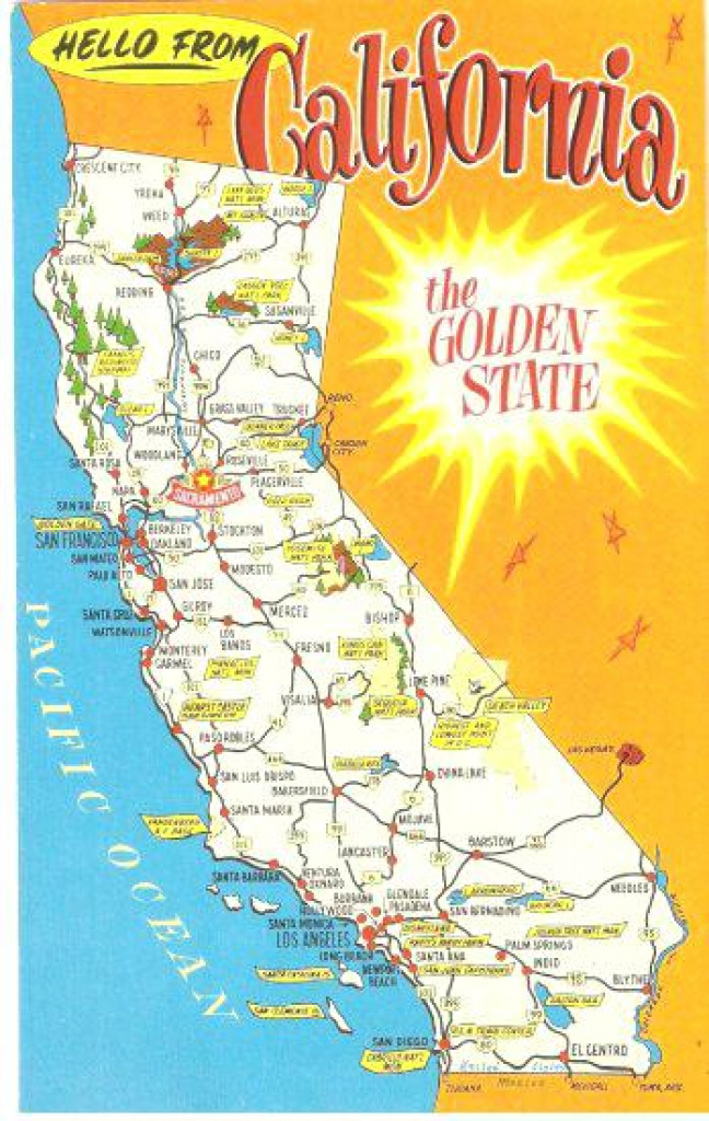 Vintage And State Map California Tablecloth – Dankland intended for Golden State Map Location