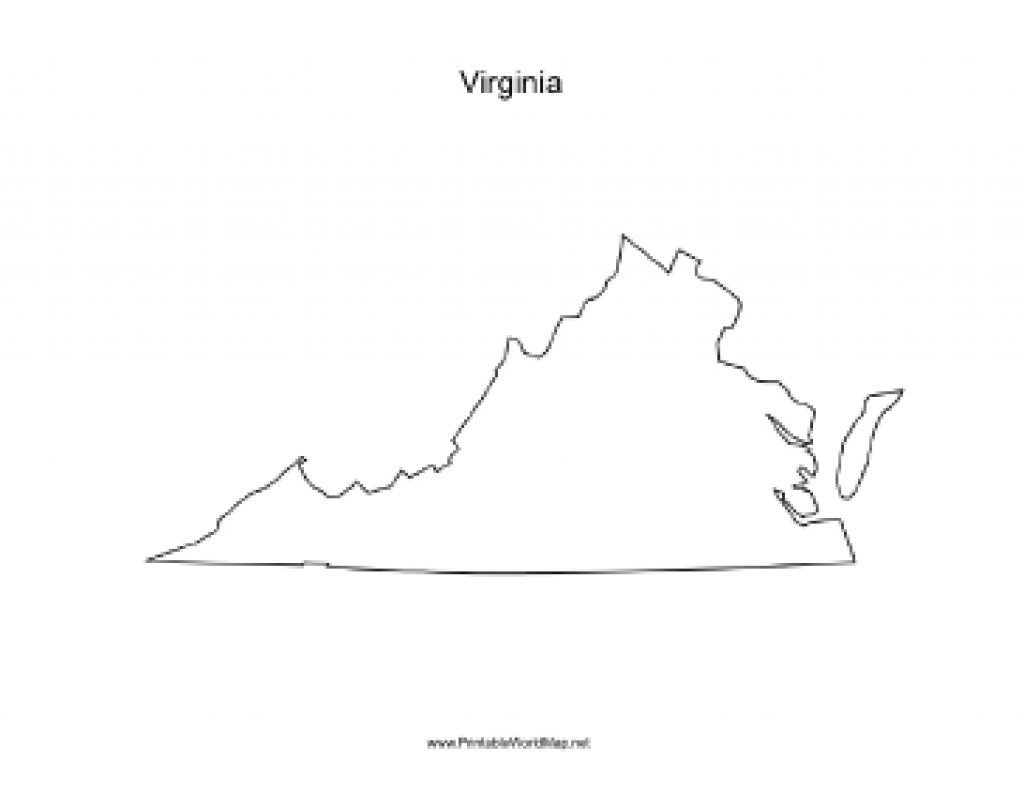 Virginia Blank Map intended for Virginia State Map Printable