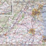 Virginia Road Map Intended For Virginia State Map Printable