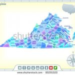 Virginia State Map Community Assistance Activates Stock Vector In Google Maps Welcome To State Icons