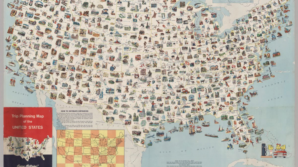 Visit Every Place On This Vintage Us Map For The Most Epic Road Trip with regard to United States Road Trip Map