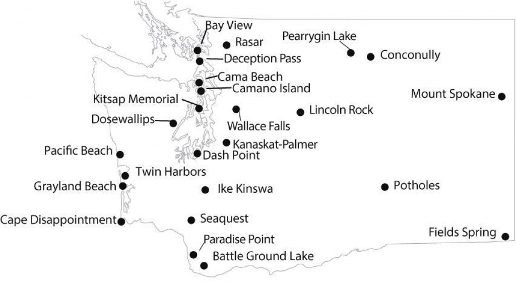 Wa State Yurts-And-Cabins-Map-(2-16) | Destination Pnw | Pinterest pertaining to Washington State Campgrounds Map