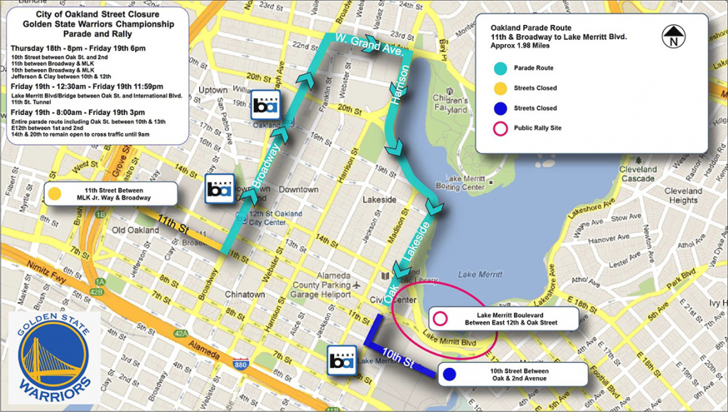 Warriors Parade 2015: Date, Time And Route Announced - Sbnation with Golden State Map Location