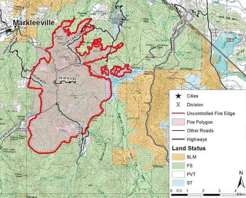 Washington Fire, Near Markleeville, California - Wildfire Today with Wa State Wildfire Map