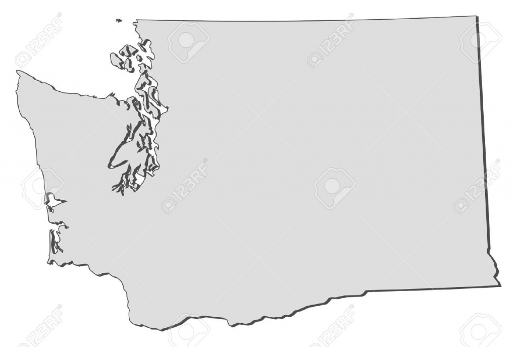 Washington Map Outline Clipart with Washington State Map Outline