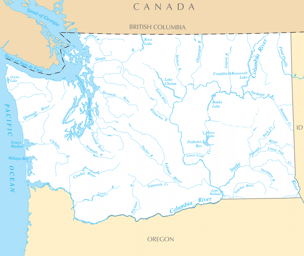 Washington Rivers And Lakes • Mapsof throughout Washington State Rivers Map