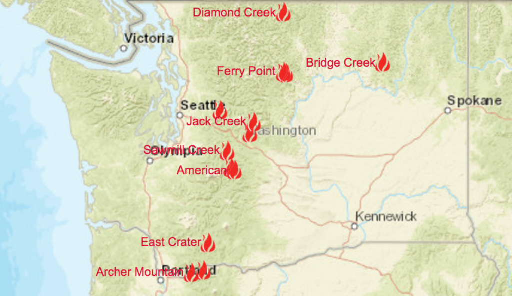 Washington Smoke Information: Washington State Fire And Smoke inside Washington State Fire Map