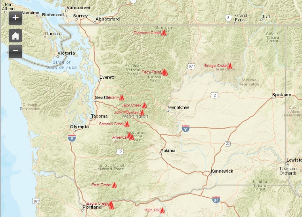 Washington Smoke Information: Washington State Smoke Forecast For in Washington State Fire Map