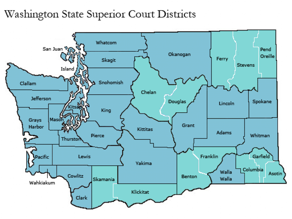 Washington State Courts - Resources throughout Washington State Legislative Map