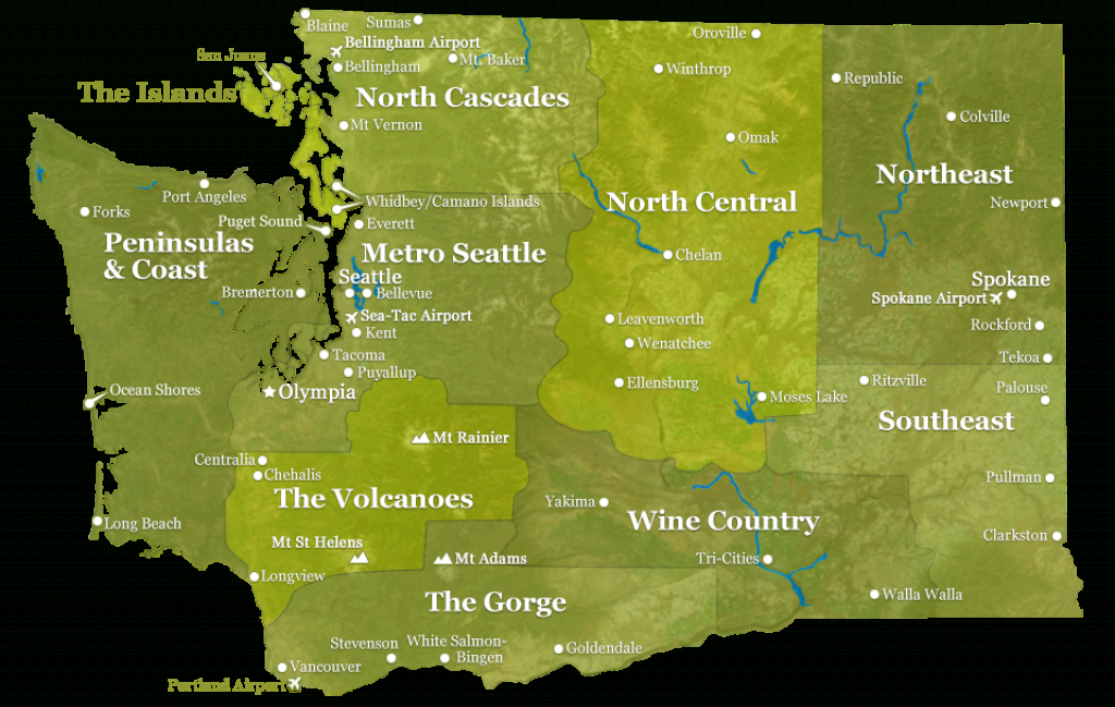 Washington State Map | Experiencewa with Map Of Washington State Cities And Towns