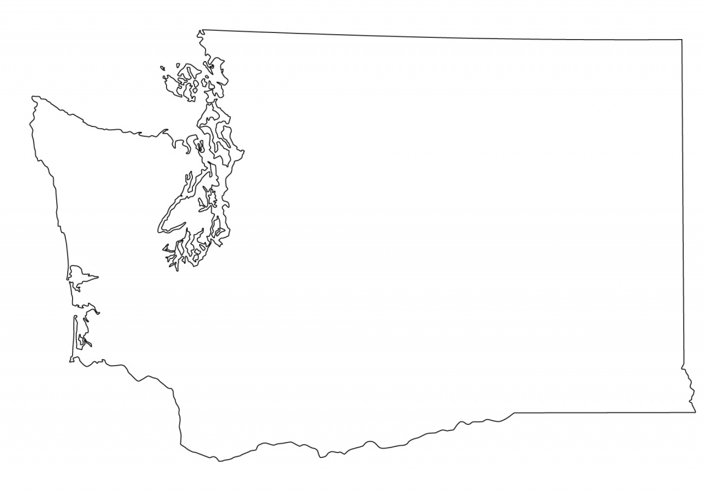 Washington State Outline Clipart regarding Washington State Map Outline