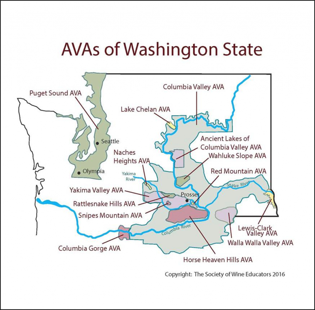 Washington State – Swe Map 2017 – Wine, Wit, And Wisdom with regard to Washington State Wineries Map