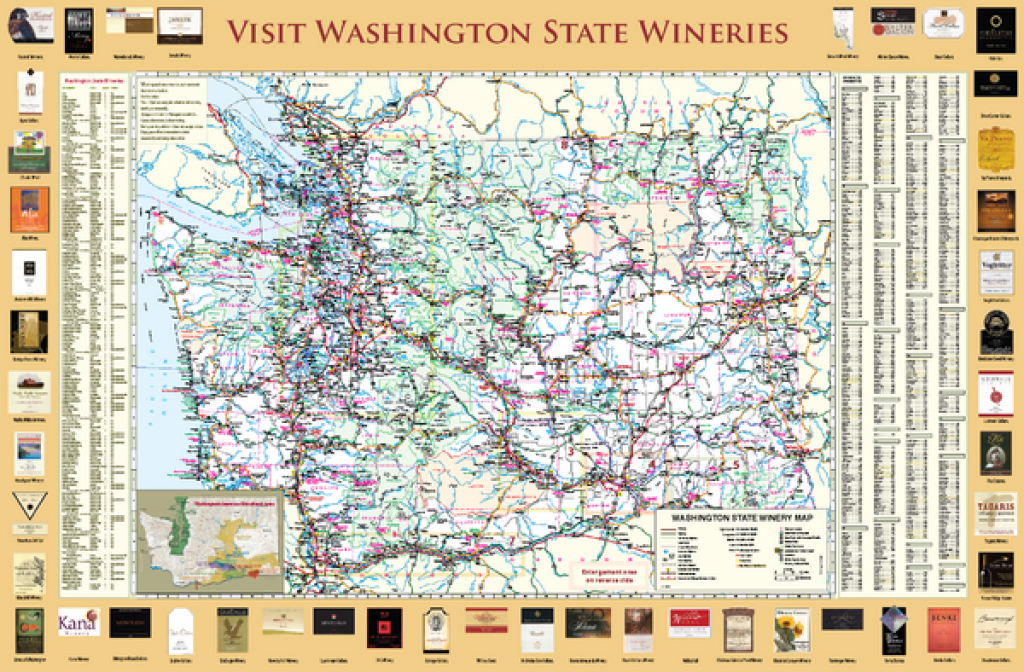 Washington State Winery Map - Sunnyslope Washington • Mappery regarding Washington State Wineries Map