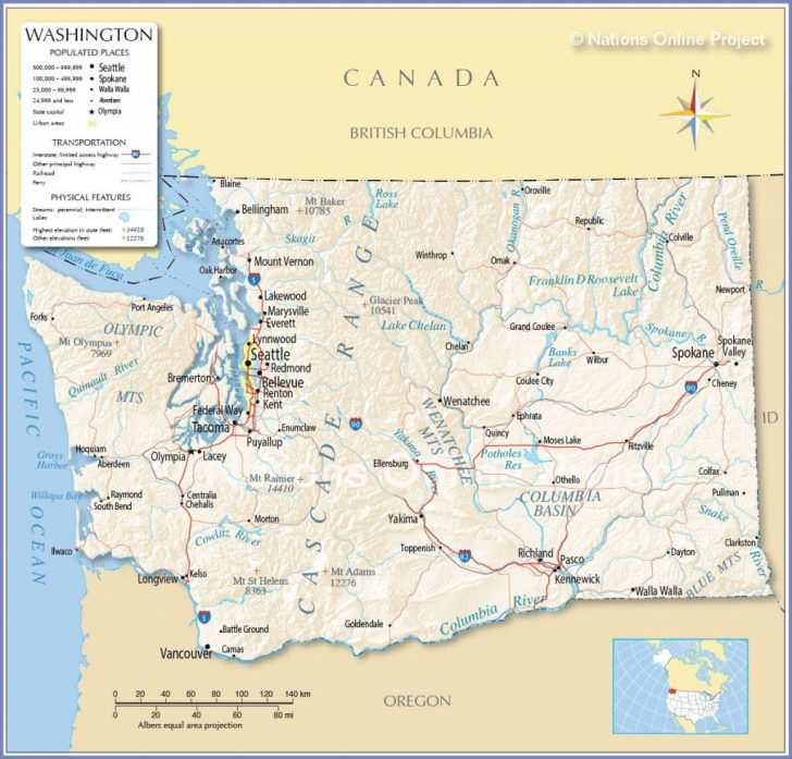 Washington State Road Map Printable