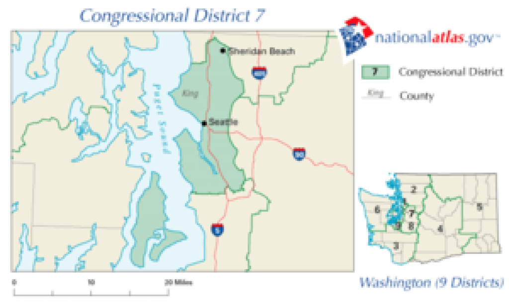 Washington's 7Th Congressional District - Wikipedia within Wa State Congressional Districts Map 2014