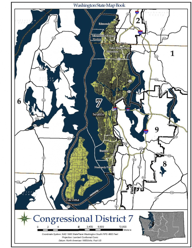 Washington's 7Th Congressional District - Wikipedia within Washington State House Of Representatives District Map