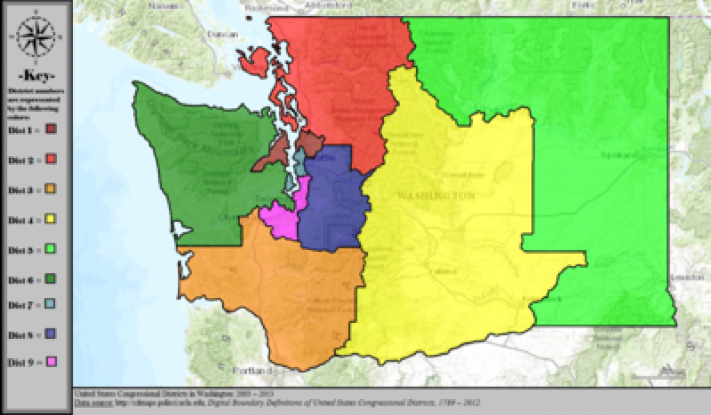 Washington's Congressional Districts - Wikipedia pertaining to Washington State Legislative Map
