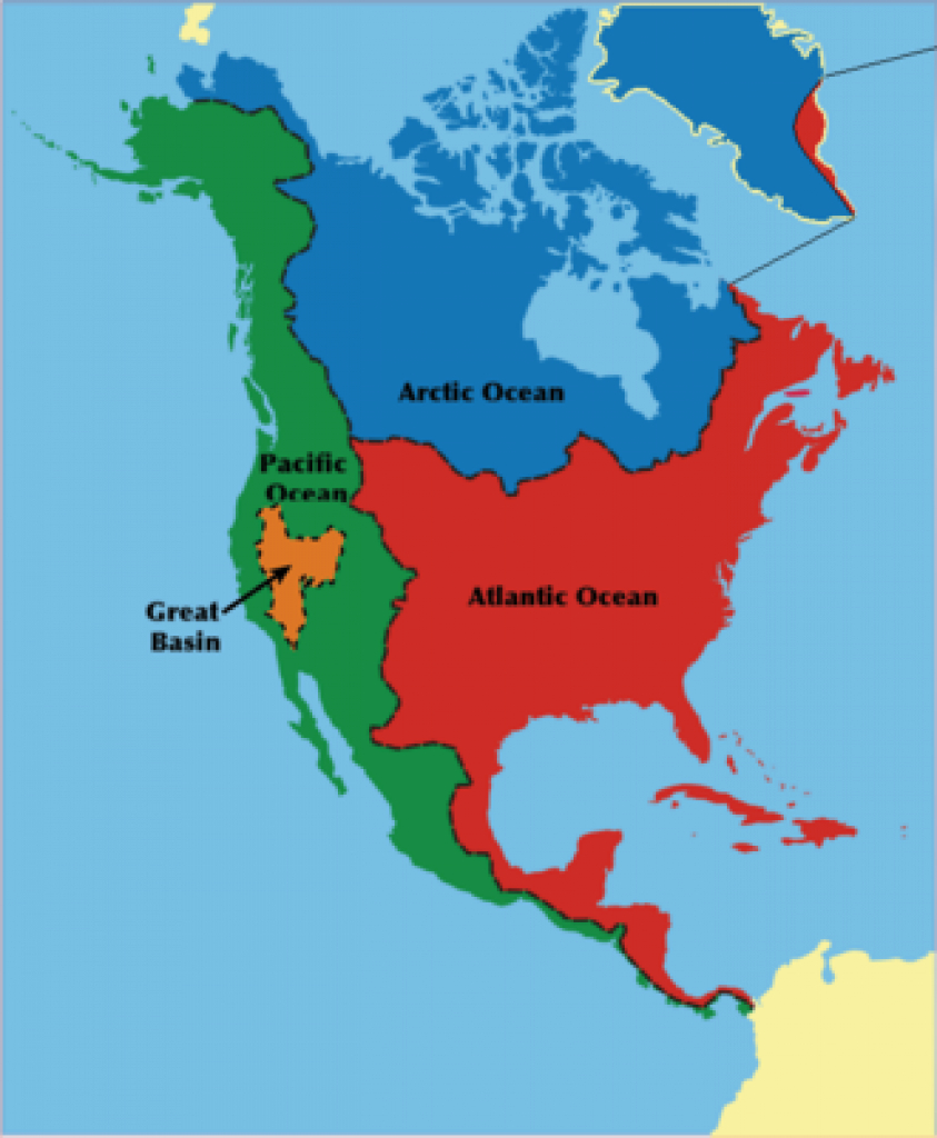 Watersheds Of North America - Wikipedia intended for Watershed Map Of The United States