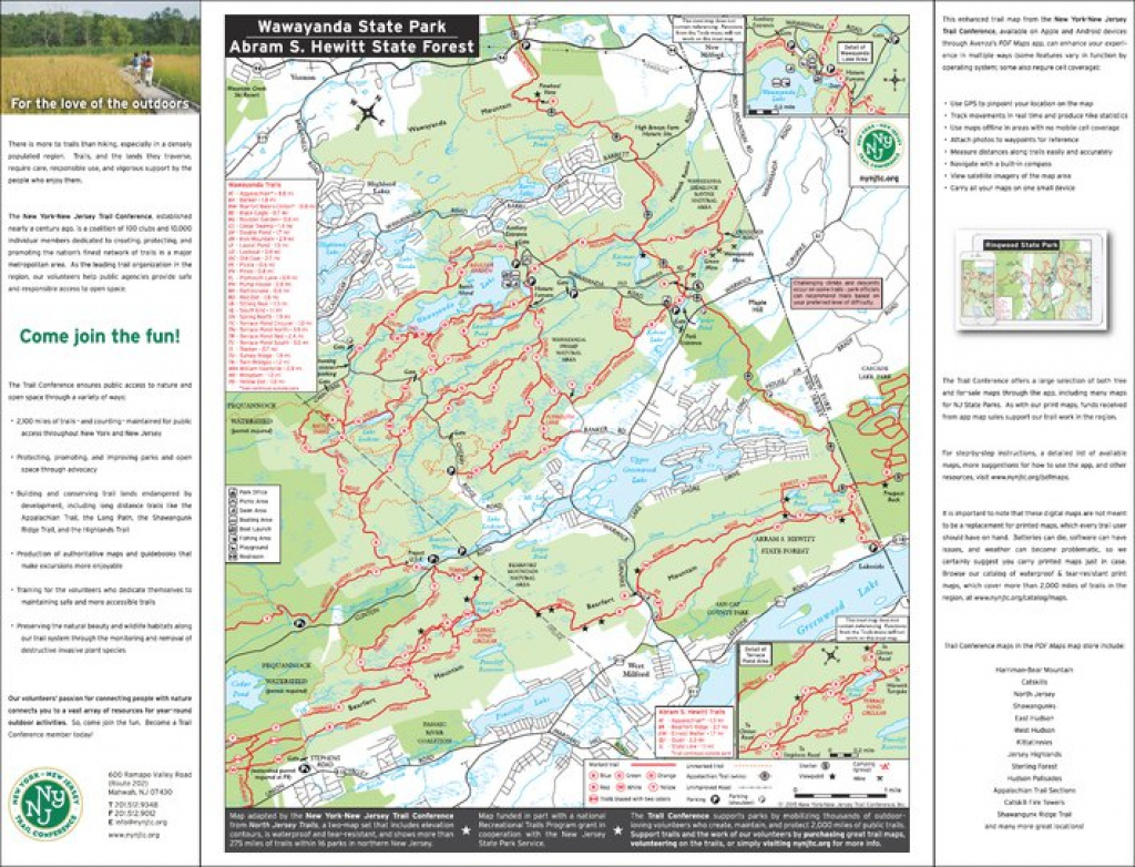 Wawayanda State Park & Abram S. Hewitt State Forest - Nj State Parks for Wawayanda State Park Hiking Trail Map