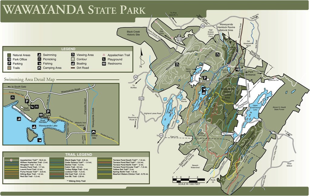 Wawayanda State Park - Maplets for Wawayanda State Park Hiking Trail Map