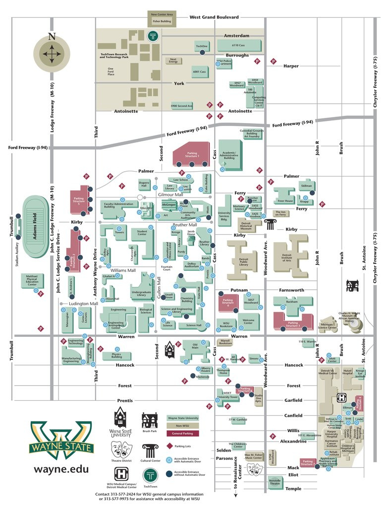 Wayne State University - Maplets for Wayne State University Campus Map