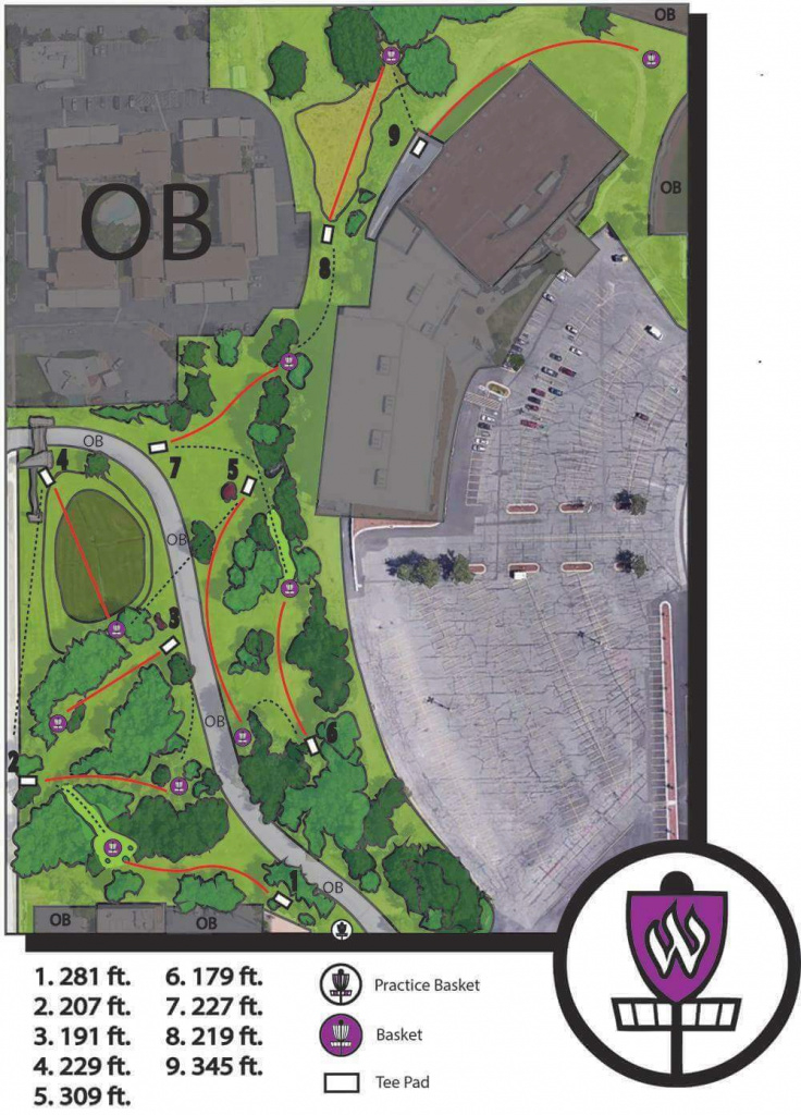 Weber State Disc Golf Course | Professional Disc Golf Association regarding Weber State Map