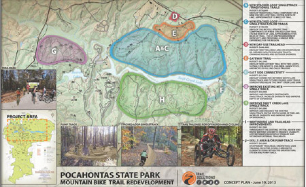 Weekend Pick: Bikes, Bbq, And Bluegrass At Pocahontas State Park pertaining to Pocahontas State Park Trail Map