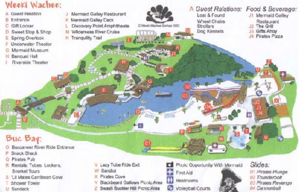 Weeki Wachee Springs State Park Map - 6131 Commercial Way Spring throughout Rainbow Springs State Park Campground Map