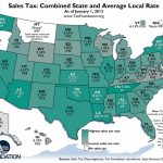 Weekly Map: State And Local Sales Tax Rates, 2013   Tax Foundation In Sales Tax By State Map