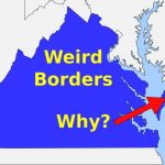 Weird Borders: State Borders Of The United States Of America   Youtube With Regard To Google Maps With State Borders