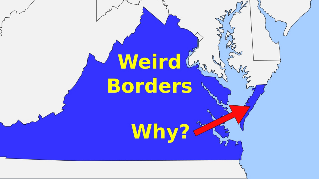 Weird Borders: State Borders Of The United States Of America - Youtube with regard to Google Maps With State Borders