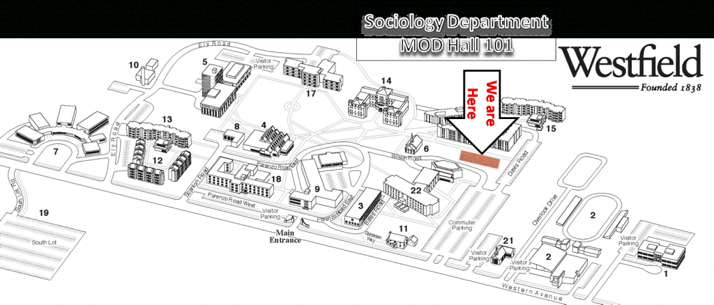 Welcome To The Sociology Program in Westfield State Map