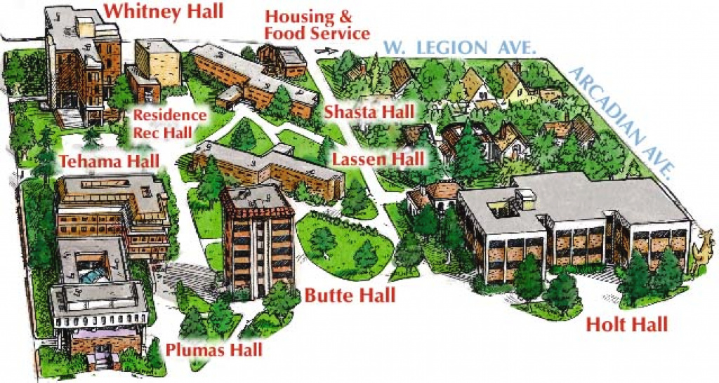 West Campus Map Page with Central State University Campus Map