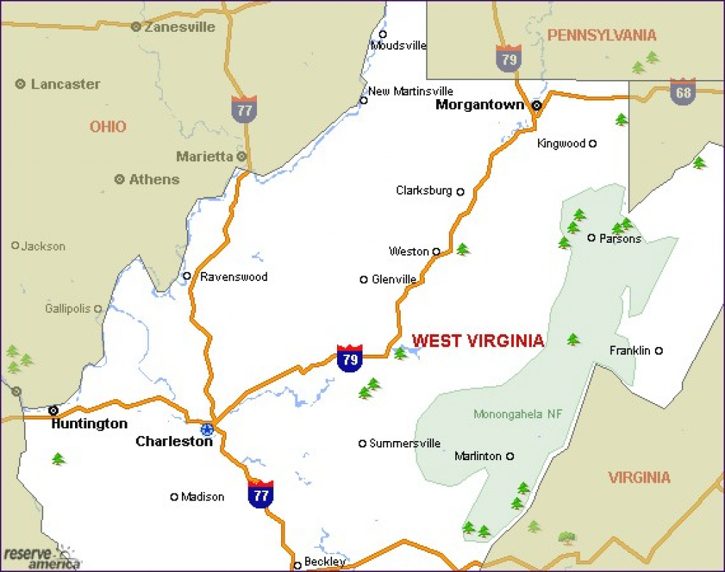 West Virginia Camping Resources And Information for West Virginia State Parks Map