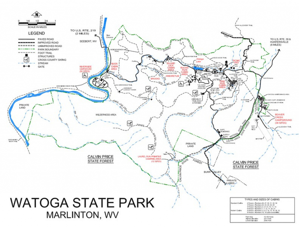 West Virginia State Park Maps - Dwhike with regard to West Virginia State Parks Map