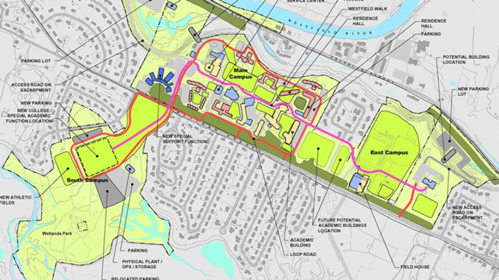 Westfield State College Campus Development Plan - Kleinfelder intended for Westfield State Map