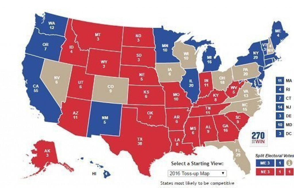 What Are The Real Swing States In The 2016 Election? - National pertaining to 2016 Electoral Map By State