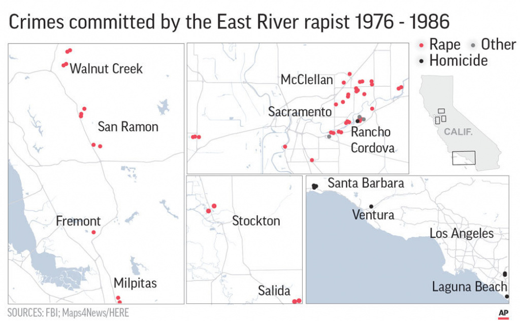 What Do We Know About The Golden State Killer And His Victims for Golden State Killer Map