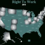 What Does Right To Work Mean?   Nrtwc Inside Map Of Right To Work States