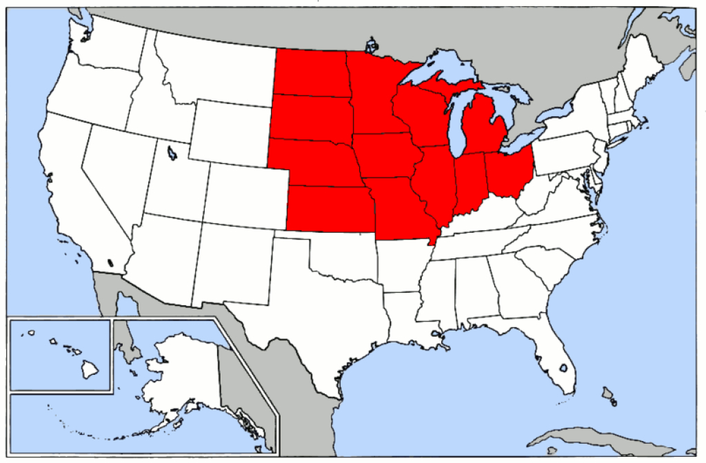 What Is General American English | Dialect Blog with regard to United States Accent Map