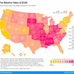What Is The Real Value Of $100 In Your State?   Tax Foundation In Cigarette Prices By State Map