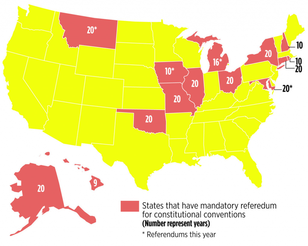 What Other States Have Done About Constitutional Conventions | Mlive inside Convention Of States Map
