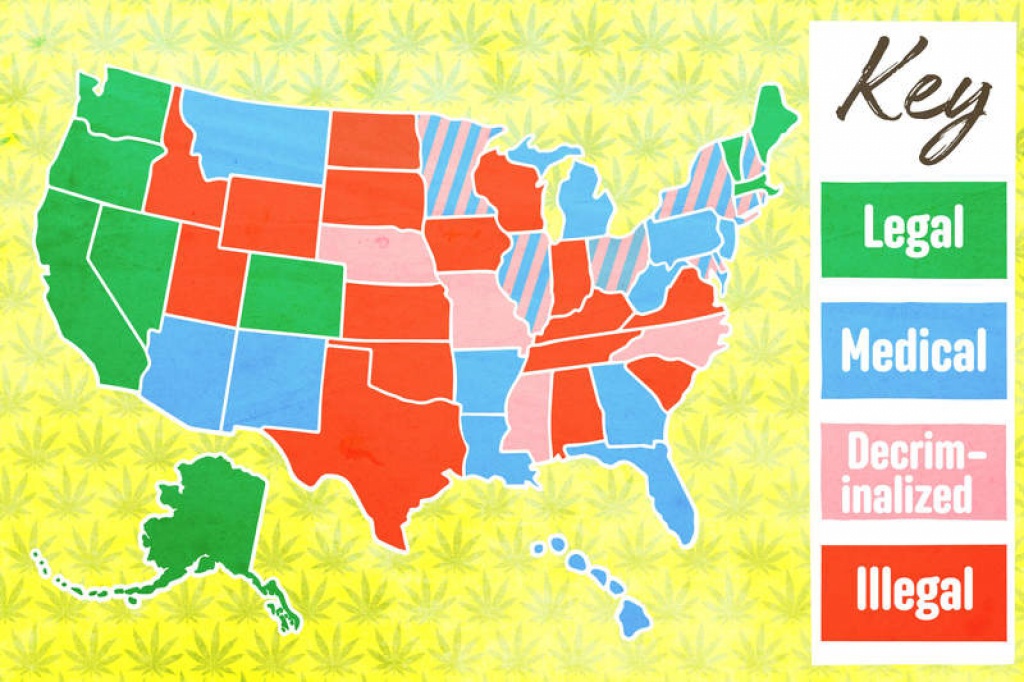 What States Have Legalized Weed? The Laws In All 50 States regarding Marijuana Laws By State Map