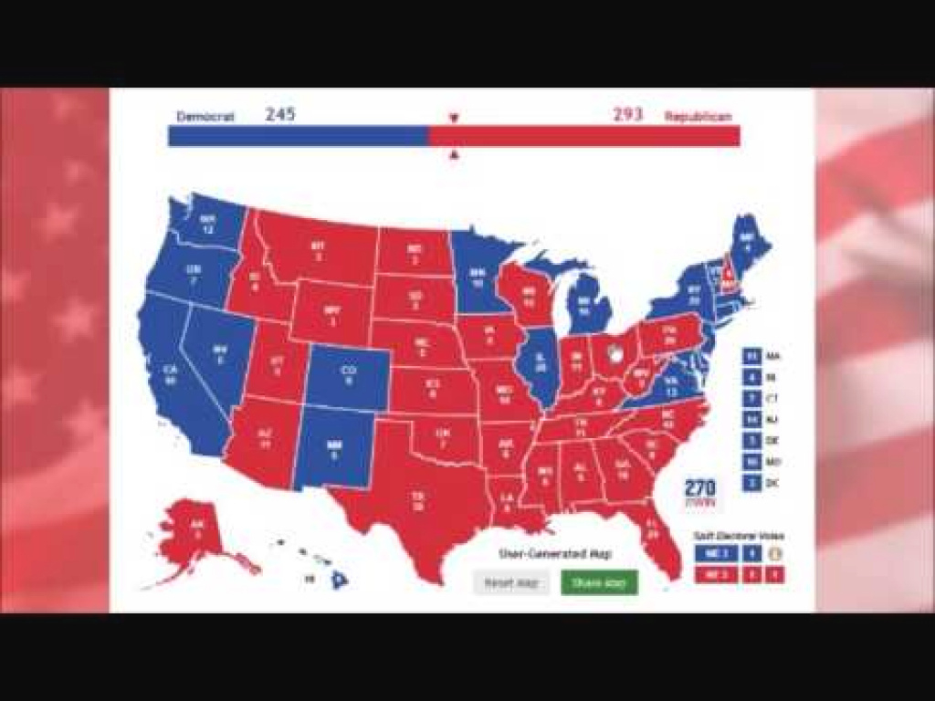 What States Trump Needs To Win - Interactive Electoral College Map in Map Of States Trump Won