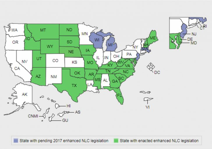 Compact State Nursing Map
