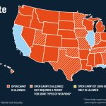 What You Need To Know About Open Carry In America Throughout Open Carry States Map 2017