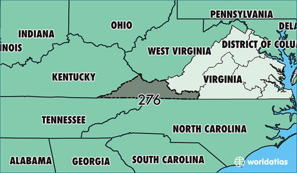 Where Is Area Code 276 / Map Of Area Code 276 / Martinsville, Va for Map Of Virginia And Surrounding States